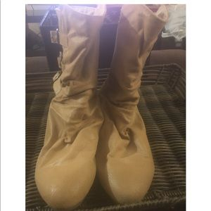 Mossimo Supply Co. Tan Suede Boots Sz 11